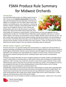 FSMA Produce Rule Summary for Midwest Orchards | Food Safety