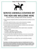 Large poster format for direct market farms to post to alert customers about their animal policy.